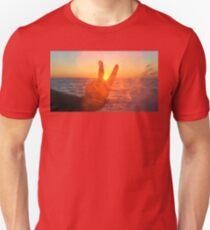 Sunset Peace Sign Unisex T-Shirt