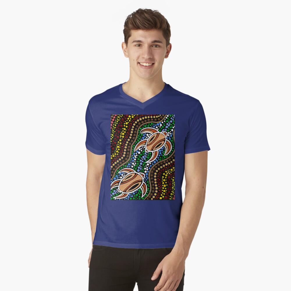 Schildkröte träumen T-Shirt mit V-Ausschnitt