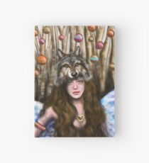Girl and Wolf Hardcover Journal