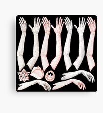 Hands Chart Canvas Print