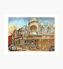 MONTREAL BEST SELLING PRINTS CONNIE'S PIZZA VERDUN STREET SCENE Art Print