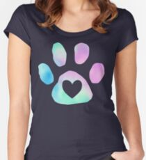 your heart is safe in my paw Women's Fitted Scoop T-Shirt