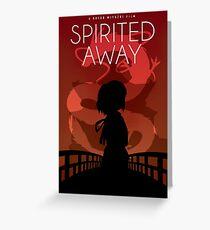 Spirited Away Movie Poster Greeting Card