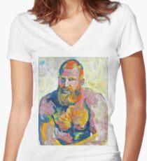 Naughty Boy - Fire Island Van Gogh by Riccoboni Women's Fitted V-Neck T-Shirt