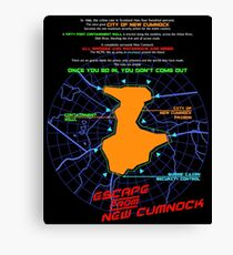 Escape From New Cumnock Orientation Map Canvas Print