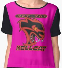 Hellcat - Red & Black Chiffon Top