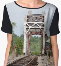 Old Railroad Bridge Chiffon Top