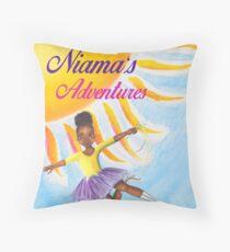 Niama's Adventures Throw Pillow