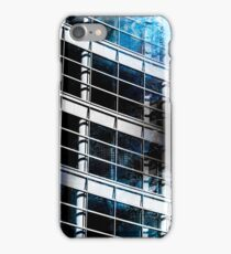 Abstract Mixed Media Acrylic with City Photograph  iPhone Case/Skin