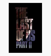 "The Last Of Us Part 2 ""Vengeful Ellie"" Photographic Print"