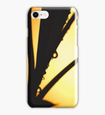 Abstract Silhouette of Water droplets on Leaf Photograph iPhone Case/Skin