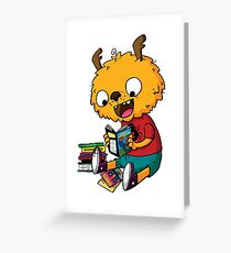 Comic Book Monster Greeting Card