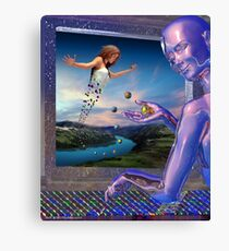 Adventures In A Computer Canvas Print