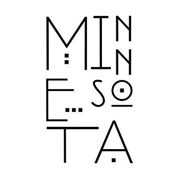 Minnesota Typography - Modern by estybain