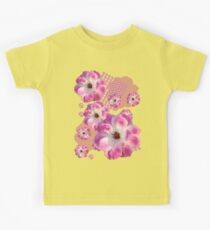 Pink and White Rose Kids Tee