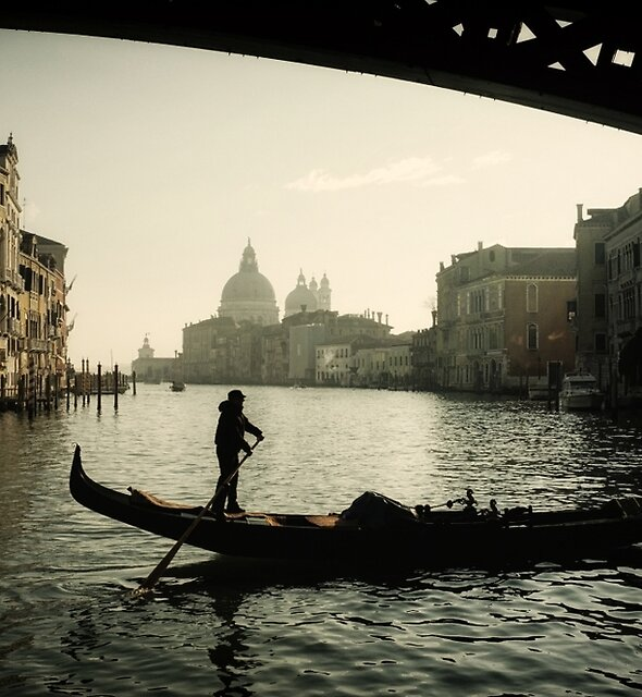 Winter Morning On The Grand Canal by Michael Carter