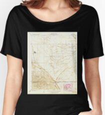 USGS TOPO Map California CA Tupman 296573 1933 31680 geo Women's Relaxed Fit T-Shirt