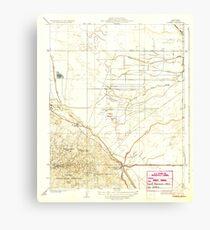 USGS TOPO Map California CA Tupman 296573 1933 31680 geo Canvas Print