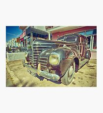 Retro Vintage Chrysler in Color Photographic Print