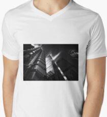 The lloyds Building & Gherkin London.  Mens V-Neck T-Shirt