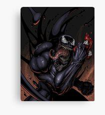 Spider and Venom, man. Canvas Print