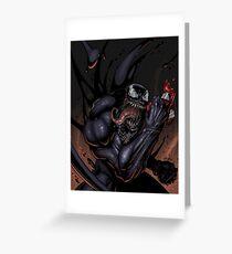 Spider and Venom, man. Greeting Card