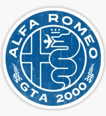 Alfa Romeo GTA 2000 Distressed BLU Sticker