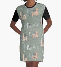 Lazy Llamas Graphic T-Shirt Dress