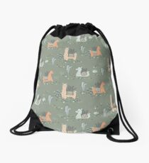 Lazy Llamas Drawstring Bag