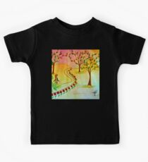 An autumn walk at dusk Kids Clothes