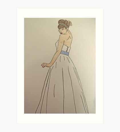 Wedding Dress No 1 Art Print