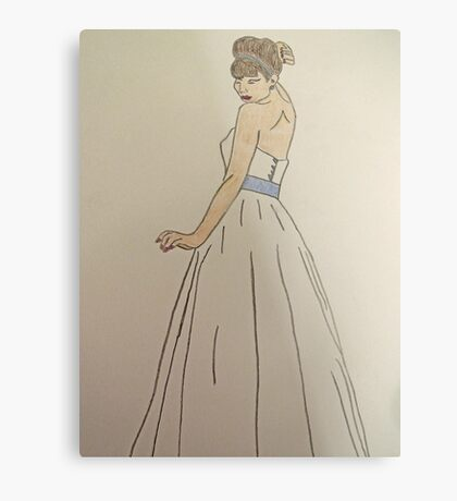 Wedding Dress No 1 Metal Print