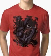 Spider and Venom, man. Tri-blend T-Shirt