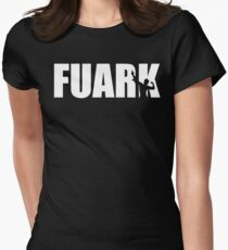 Zyzz Fuark White Women's Fitted T-Shirt