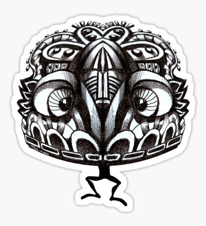 Aztec Ant Jester :) Sticker