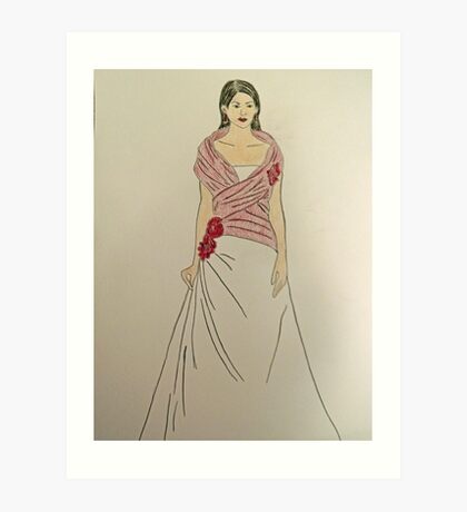 Wedding Dress No 2 Art Print