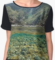 River above and below water surface Women's Chiffon Top