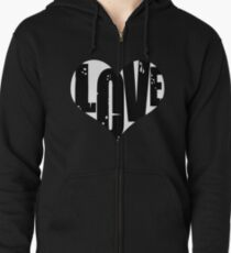 Love in Heart Zipped Hoodie