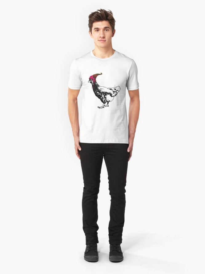 Alternate view of I'll Be Your Pixie Chicken Slim Fit T-Shirt