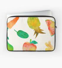 Watercolor Fruits and Vegetables Laptop Sleeve
