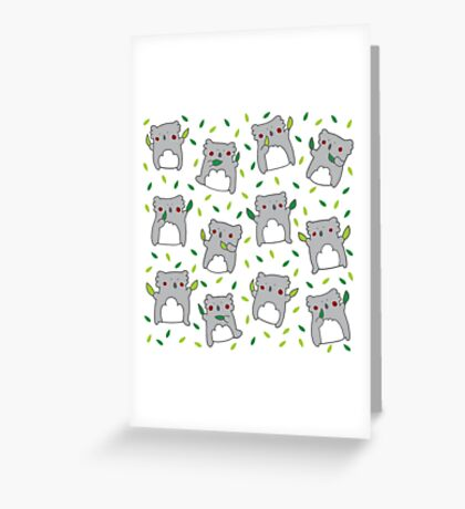 Koala dance Greeting Card