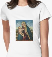 Grimes Madonna and Child Womens Fitted T-Shirt