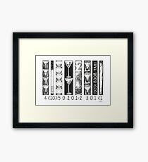 Bar Code Framed Print