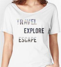Travel Explore Escape- 3 Pack Landscapes Women's Relaxed Fit T-Shirt