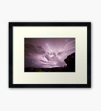 Suburban Storm Framed Print