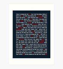Oasis - Wonderwall Art Print