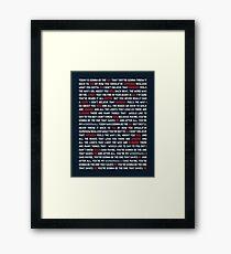 Oasis - Wonderwall Framed Print