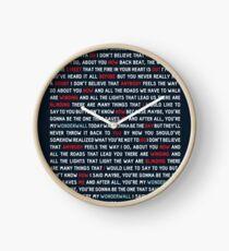 Oasis - Wonderwall Clock