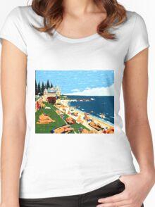 Cottesloe Beach Western Australia Women's Fitted Scoop T-Shirt