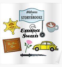 Emma Swan Comic Icons Poster